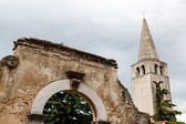 Bell Tower of Euphrasian Church in Porec, Croatia — 图库照片