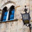 Ancient Streetlight in Priori Square at Volterrin Tuscany, It — Stock Photo #11029391