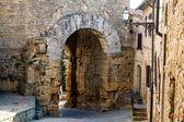 Ancient Etruscan Gate of Volterra in Italy — Stock Photo
