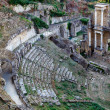 Ancient Roman Theatre of Volterra in Tuscany, Italy — Foto Stock