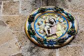 Detail of the Palazzo dei Priori, Volterra, Tuscany, Italy — Stock Photo