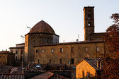 Sunset in the Small Town of Volterra in Tuscany, Italy — Stockfoto