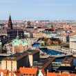 Aerial View on Roofs and Canals of Copenhagen, Denmark — Stock Photo #11289804
