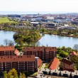 Aerial View on Roofs and Canals of Copenhagen, Denmark — Stock Photo #11289852