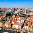 Aerial View on Roofs and Canals of Copenhagen, Denmark — Stock Photo