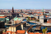 Aerial View on Roofs and Canals of Copenhagen, Denmark — Foto de Stock