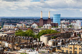 Aerial View from Westminster Cathedral on Roofs and Battersea Po — Stock Photo