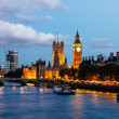 Big Ben and Westminster Bridge in the Evening, London, United Ki — Stock Photo #11290262