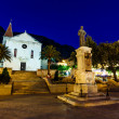 Saint Mark Cathedral in Makarska at Night, Croatia — Stock Photo