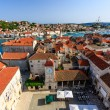 Aerial View on Trogir and it's Main Square from Cathedral of Sai — Stock Photo