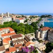 Aerial View on Diocletian Palace and City of Split, Croatia — Stock Photo