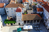 Aerial View on the Main Square of Trogir from Cathedral of Saint — Stock Photo