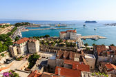 SPLIT, CROATIA - JULY 2: Aerial View on Diocletian Palace and Ci — Foto de Stock