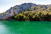 Milli park krka ve nehir krka yakınındaki şehir skradin, hırvatistan — Stok fotoğraf