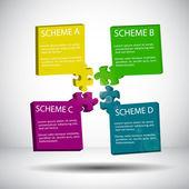 Puzzle scheme — Stock Vector