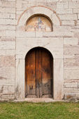 A gate of the church — Stock Photo
