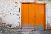 Een oranje poort — Stockfoto