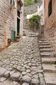 A small street in Kotor — Stock Photo
