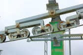 Detail of ski lift — Stock Photo