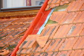 Damaged roof — Stock Photo