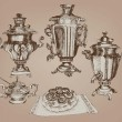 Stock Vector: Samovar