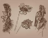 Masquerade masks — Stock Vector