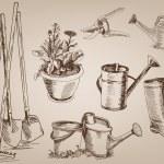 Garden tools — Stock Vector