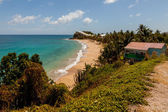 Beautiful Sunny Tropical Caribbean Beach Landscape Seascape Carl — Stock Photo