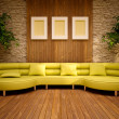 Minimal modern interior with lemon sofa — Stock Photo #11985409