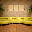 Minimal modern interior with lemon sofa — Stock Photo #11985437