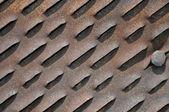 Arkusz zardzewiały żelazo. tekstura. — Zdjęcie stockowe
