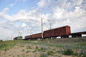Freight train. — Stock Photo