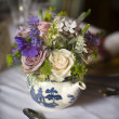 Flower bouquet in teapot — Stock Photo #11529041