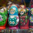 Babushka or matrioshka russian dolls — Stock Photo