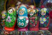 Babushka or matrioshka russian dolls — Stock Photo