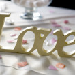 Love word at wedding — Stock Photo #11705242