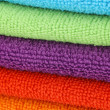 Background microfiber cleaning cloths — Stock Photo
