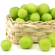 Stock Photo: Fresh jujube fruit (Ziziphus jujuba) in woven basket