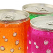 Stock Photo: Colorful fizzy drink cans