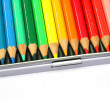 A box of coloring pencils - Stockfoto