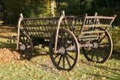 Wooden hay cart — Stock Photo