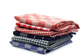 клетчатый кухонные полотенца — Стоковое фото