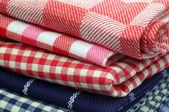 Ręczniki kuchenne kratkę — Zdjęcie stockowe