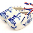 "Delft blue ceramic ""wooden shoes"" from Holland — Stock Photo"