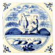 Stock Photo: Dutch Delft blue tile