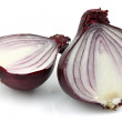 Stock Photo: Two red onion halves