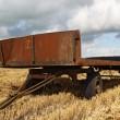 Foto Stock: Very old metal hay cart