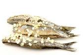 "Fresh herring (Dutch ""Hollandse Nieuwe"") with chopped onions — Stock Photo"