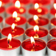 Red scented candles — Stock Photo