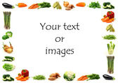Vegetable border — Stock Photo